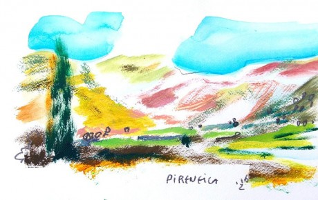 017,25x44,oil,ink,paper,2007,Spain,ArtProjects,Catalonia-pattern