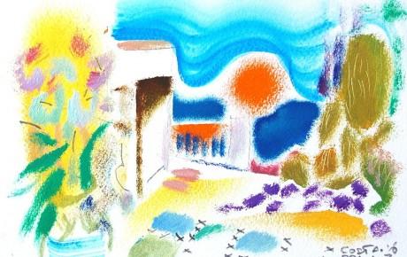 035,35x44,oil,ink,paper,2007,Spain,ArtProjects,Catalonia-pattern