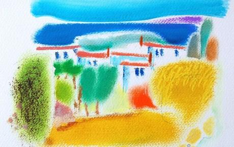 036,35x44,oil,ink,paper,2007,Spain,ArtProjects,Catalonia-pattern