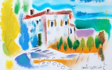 037,35x44,oil,ink,paper,2007,Spain,ArtProjects,Catalonia-pattern