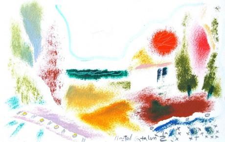 050,35x44,oil,ink,paper,2007,Spain,ArtProjects,Catalonia-pattern