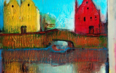 Brugge,100x120,oil,canvas,2006,Latvia,Nature,Sold