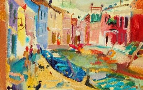 Burano,50x60,oil,canvas,2006,Italy,Nature,Sold