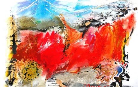 alps-landscape,70x100,oil,paper,2007,Austria,AP.Sold