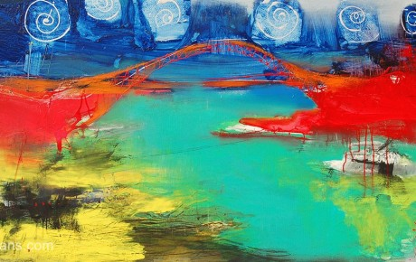 bridge.yantzi,90x180,oil,canvas,2010,China,Nature,Sold