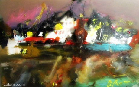 harbour-at-night,80x120,oil,canvas,2012,Latvia,AP