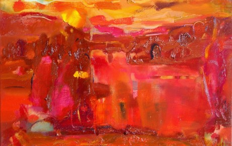 lt-sunset1,,50x60,oil,canvas,2005,Lithuania,Nature