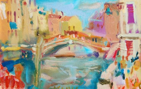 venice0635x50,oil,canvas,2006,Italy,Nature,Sold