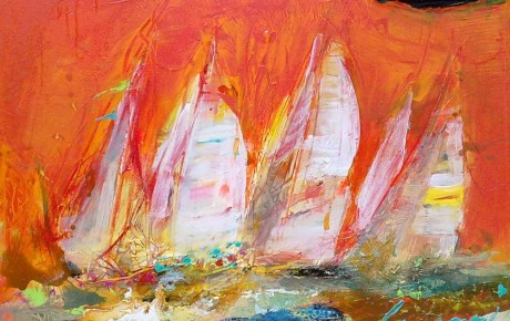 yachts,77x100,oil,canvas,2012,Nature