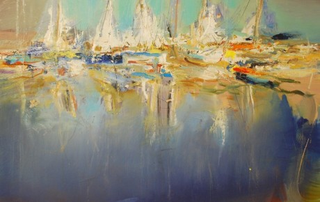 eastern harbour,100x120,oil,canvas,2013, Latvia, Nature