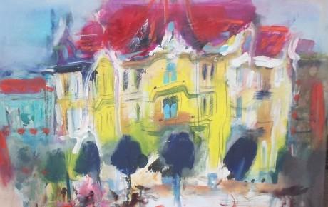 street scene , alberta str., 50x70,2013