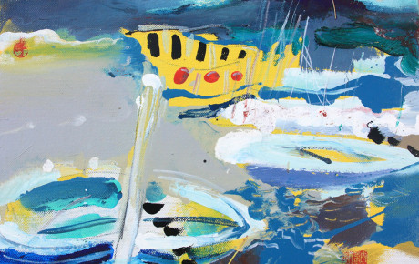Brach-island,30x50,oil,canvas,2011,Croatia,Nature