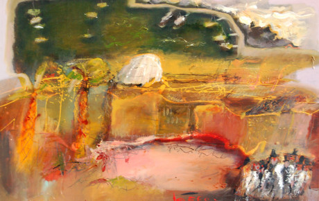 Jaffo-harbour,70x100,oil,canvas,2007,Israel,Nature
