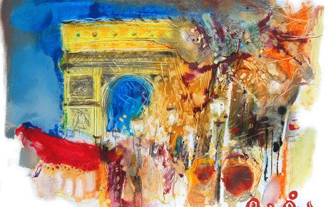 arcdetriumphe,70x100,oil,paper,2008,Latvia,Nature