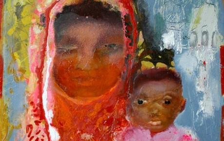 madonna-KL,-60x50,oil,canvas,2011,Malaysia,People,Portrait