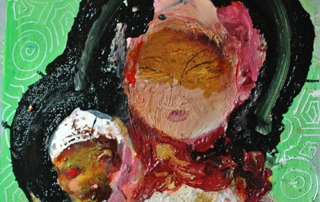 madonna.my,60x55,oil,canvas,2011,Malaysia,People,Portrait