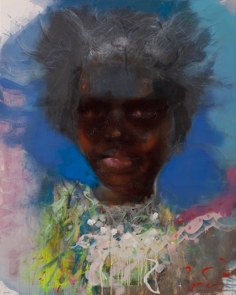 Solomon islands girl, ooc,150x120,2014, Zalans